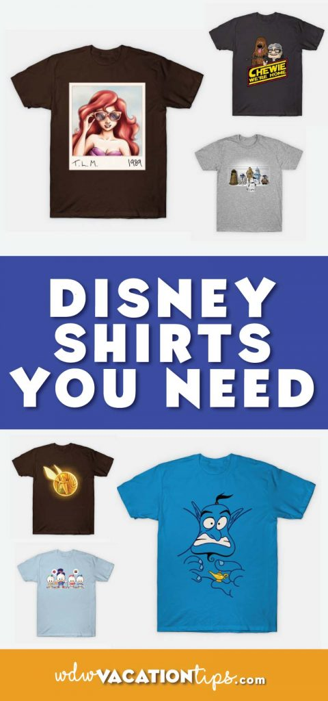 The perfect shirts you need to wear on your next Disney Vacation or just in your everyday life! Disney fans will want to read.