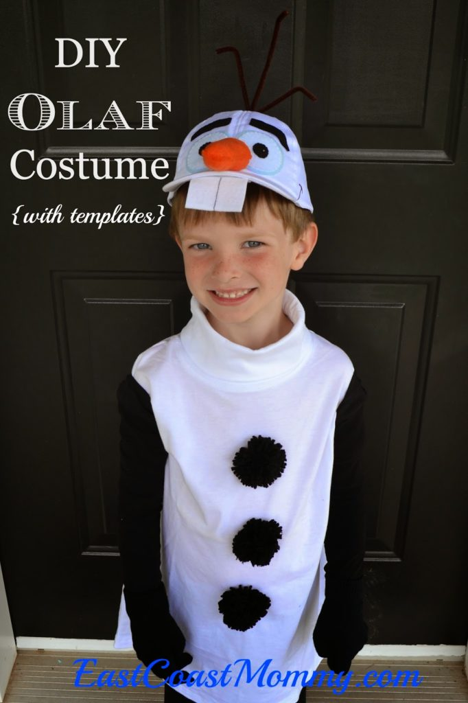 Make your own Olaf costume from Frozen for less than $10! Check out the article over here on East Coast Mommy!