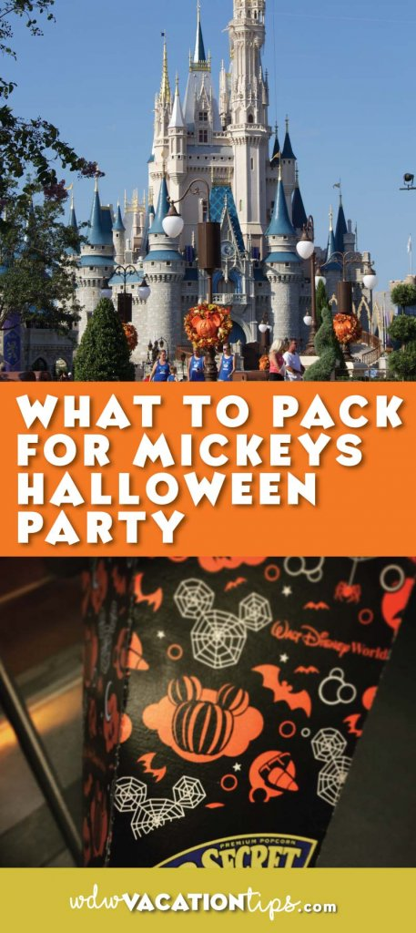 Find out what you should bring with you to your next Mickey's Not Scary Halloween Party.