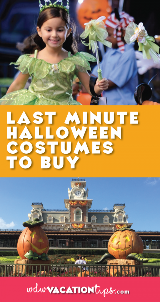 Great idea for last minute Halloween costumes. Whether your trick or treating at home or at Disney World.