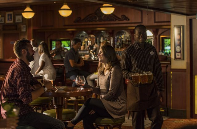 Experience Crown & Fin Pub – an authentic English tavern and a new addition to the After Hours adult district on the Disney Wonder.