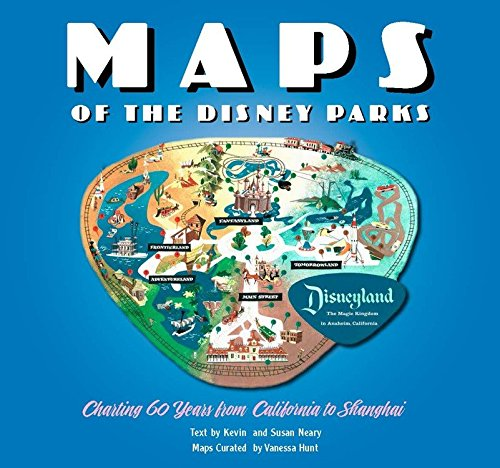 This book is a brand new release from Disney. This book is bursting with beautiful maps from when the very first Disney Park opened in 1955 right up to today.