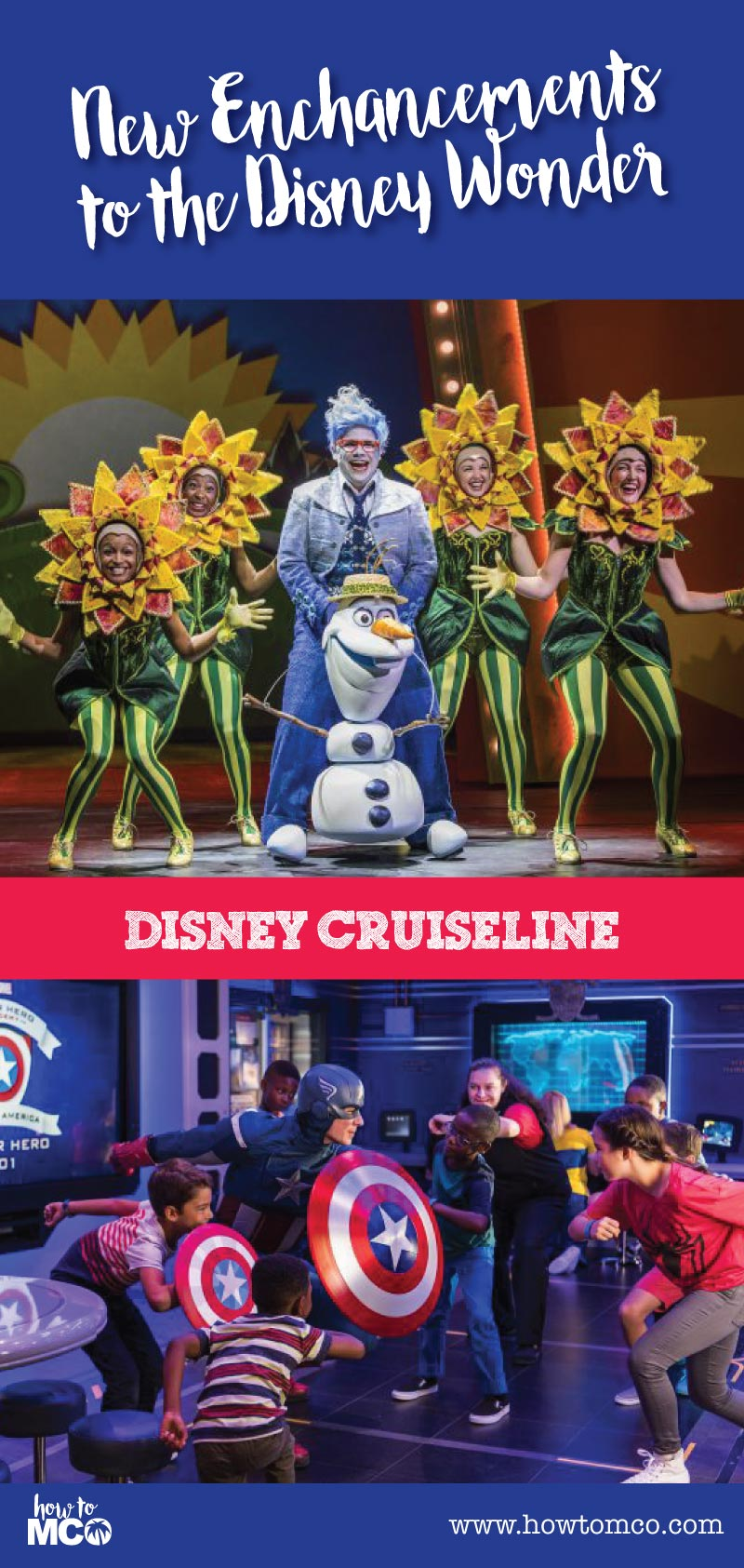 Late in 2016 the Disney Wonder went under a much-needed update. This was the last ship to get some Disney TLC. The featured enhancements include an exclusive new theatrical production, imaginative spaces for children, a jazzy restaurant, and an English pub.