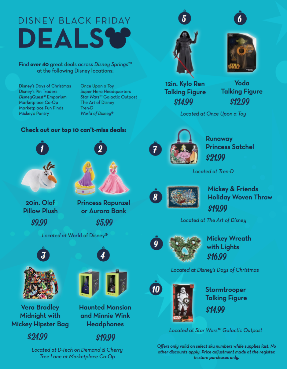 A list of Disney Springs Black Friday deals!