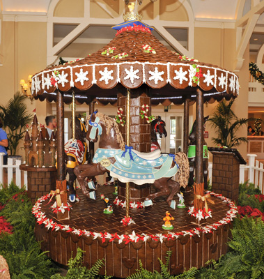 Life-Sized Edible Carousel at Disney's Beach Club Resort.