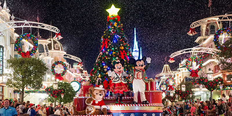 So magical! Mickey's Once Upon a Christmastime Parade that appears during Mickey's Very Merry Christmas Party.