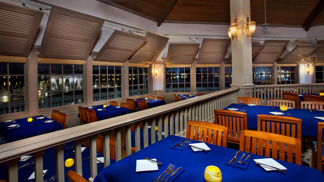 Narcoossee's is an intimate dining location and features views straight into the Magic Kingdom. This is another great way to experience the Magic Kingdom's firework show.