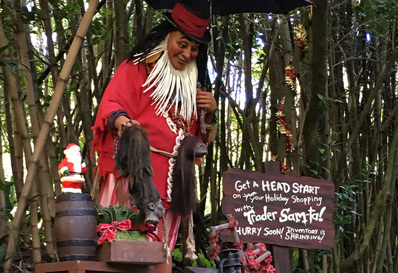 Trader Samta has a new special holiday discount for you at the Jingle Cruise in Magic Kingdom.