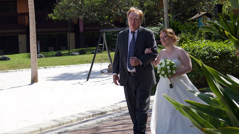 I choose to have my father walk me down the aisle. We also requested to make sure the groom didn't see me before the ceremony which they did an amazing job of!
