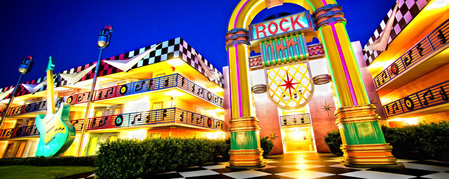 Disney All Star Music Resort at Walt Disney World. Copyright Disney.