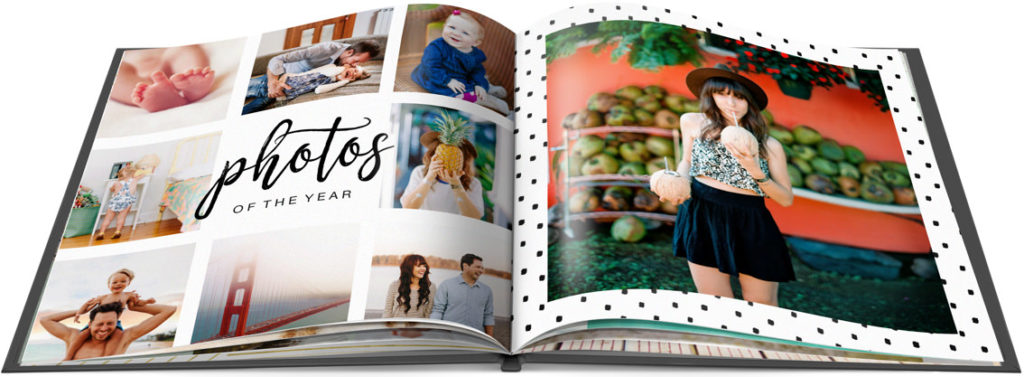 Custom photo book of vacation pictures.