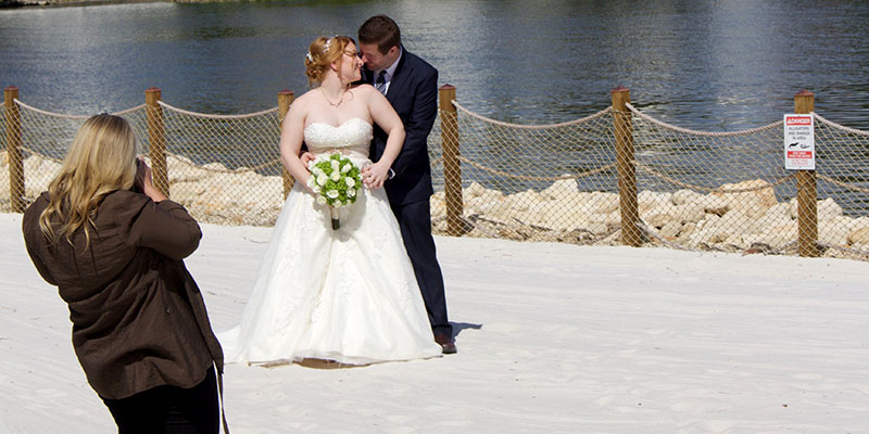 Our Disney wedding photographer in action!
