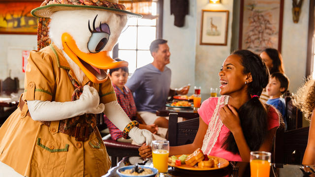 Dine with Mickey's friends at the Tusker House in Disney's Animal Kingdom. Copyright Disney.