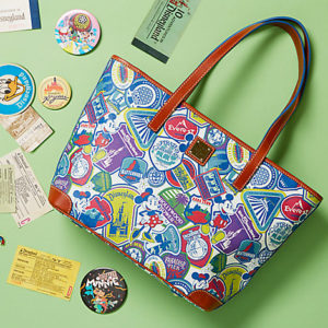 The colorful design features a collage of badges of popular Disney attractions. The perfect match for the die-hard Disney fan! Buy it at the DisneyStore.com