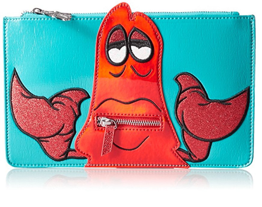 Disney by Danielle Nicole Sebastian Pouch. Go under the sea with this saddle inspired crossbody featuring the image of Sebastian from Disney's the Little Mermaid. Buy yours on Amazon.