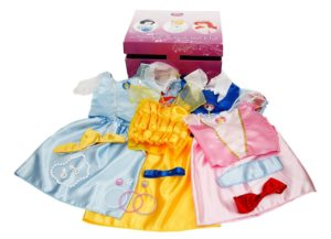 Disney princess dresses and accessories with trunk