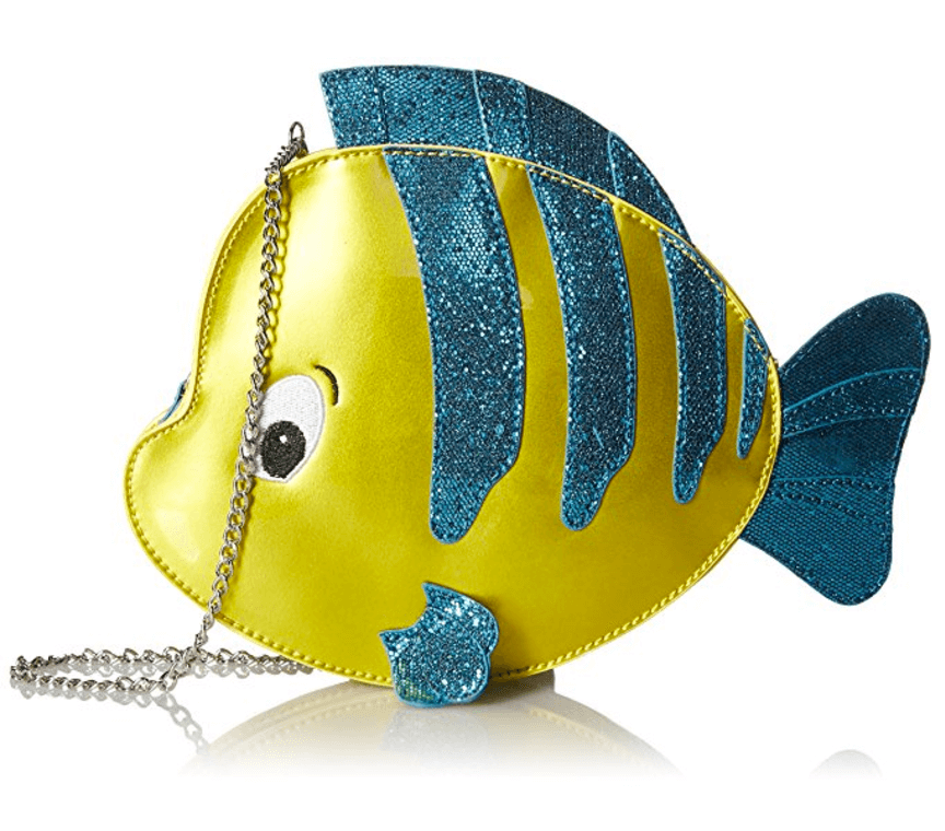 Dive down under the sea with the Flounder crossbody purse! Get yours today on Amazon.