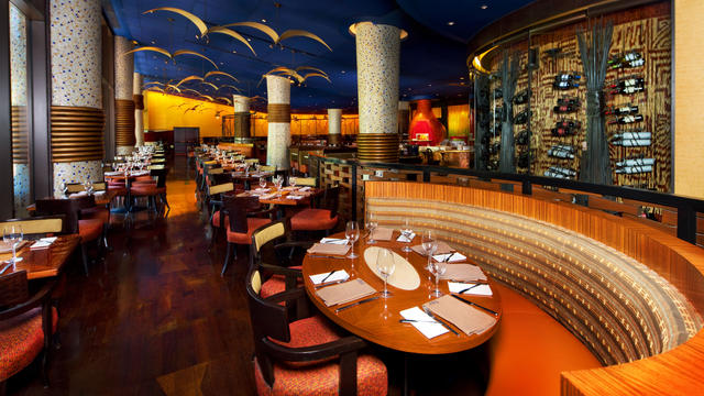 Jiko is an exquisite dining choice located inside the Animal Kingdom Lodge. Copyright Disney.