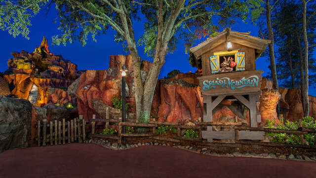 Splash through Splash Mountain under the stars for a whole new take on this log flume attraction.