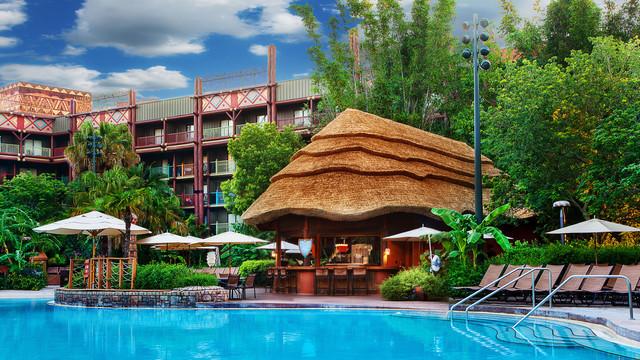 Uzima Springs Pool Bar at Disney Animal Kingdom Lodge. Copyright Disney.
