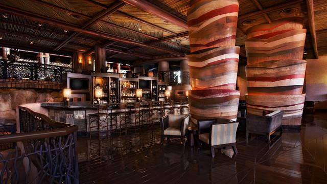 Victoria Falls Lounge at the Animal Kingdom lodge. Copyright Disney.