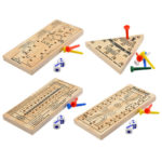Wooden peg game baords