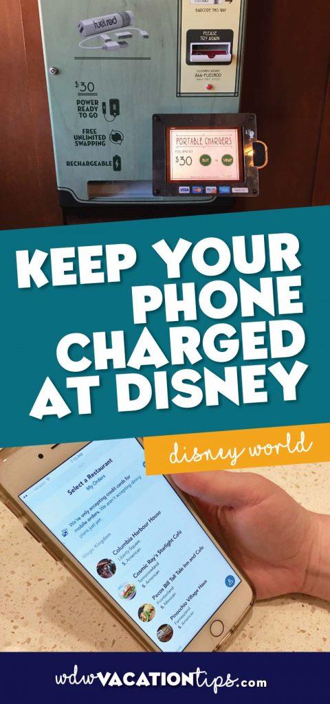 Phone charged at Disney World