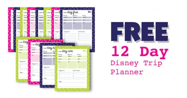 FREE Printable Disney Daily Vacation Planner • WDW ...