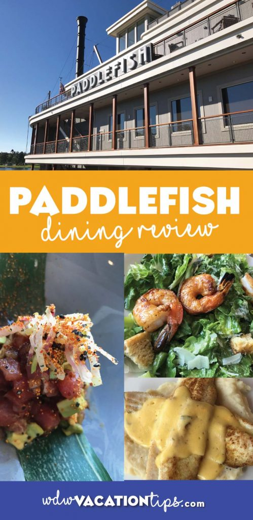 An in depth look at the food options served up at Paddlefish a seafood restaurant at Disney Springs Walt Disney World.