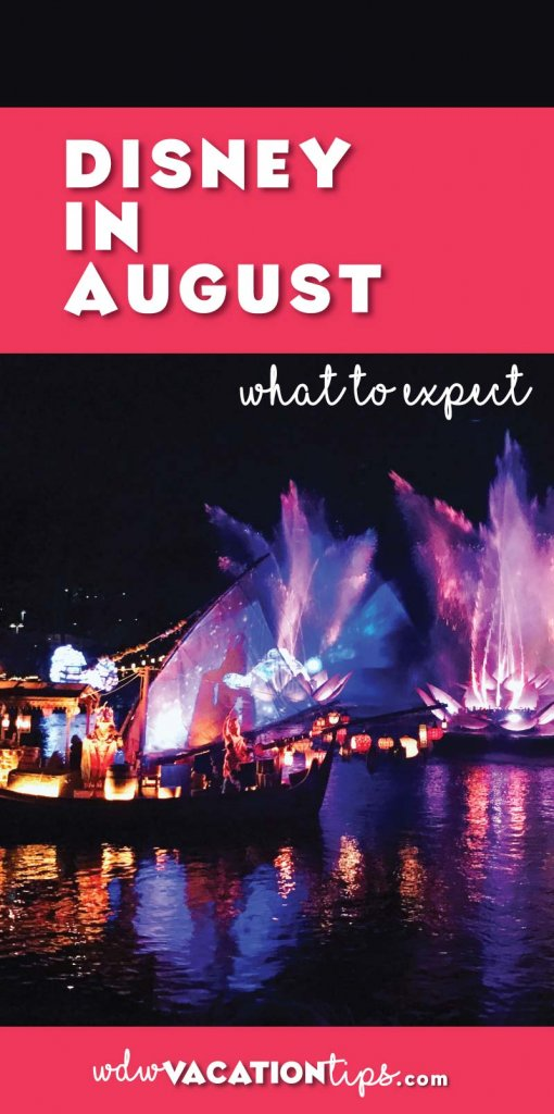 If you taking a trip to Disney World in August this is what you can expect! Plus tips on how to handle what August has in store.