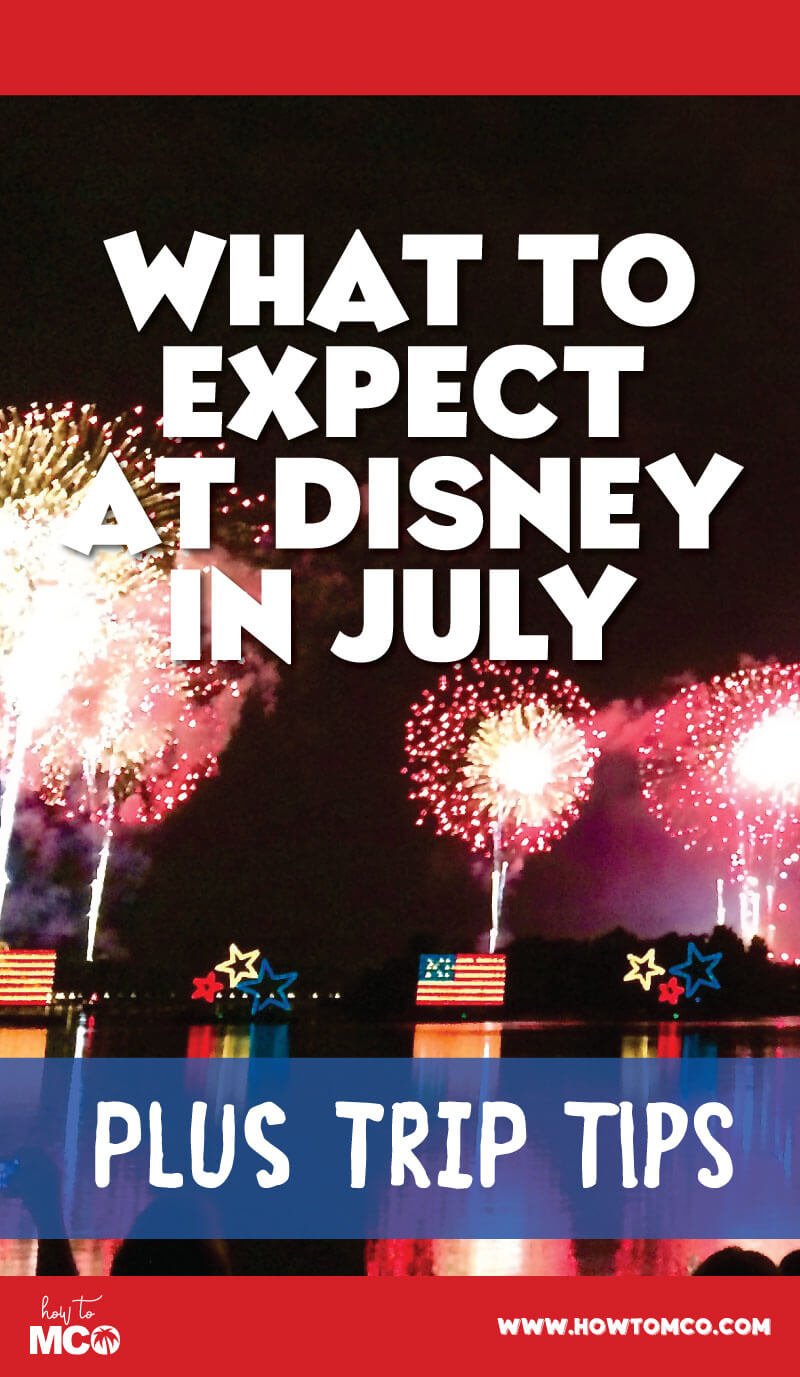 July is a the heart of the summer here in central Florida. As such it is the hottest, priciest, and busiest month to come visit Disney World. We recommend if you have the flexibility to look at an alternate time to visit. For a lot of people, however, this is the only option for making a trip out to see Mickey.