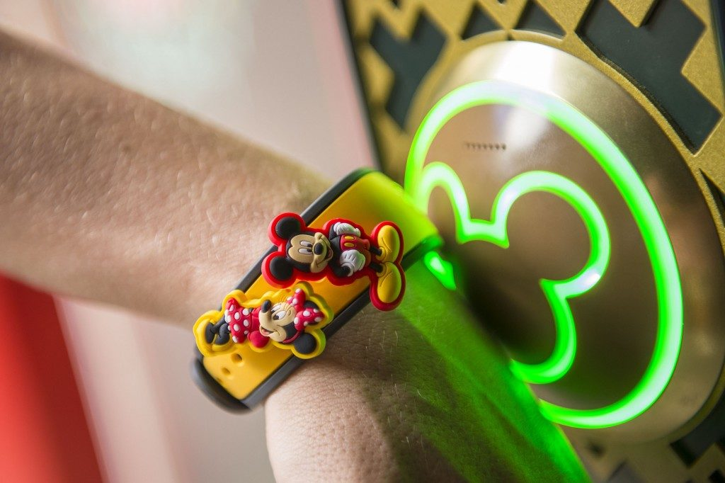 A MagicBand decorated with MagicBandits. Copyright Disney.