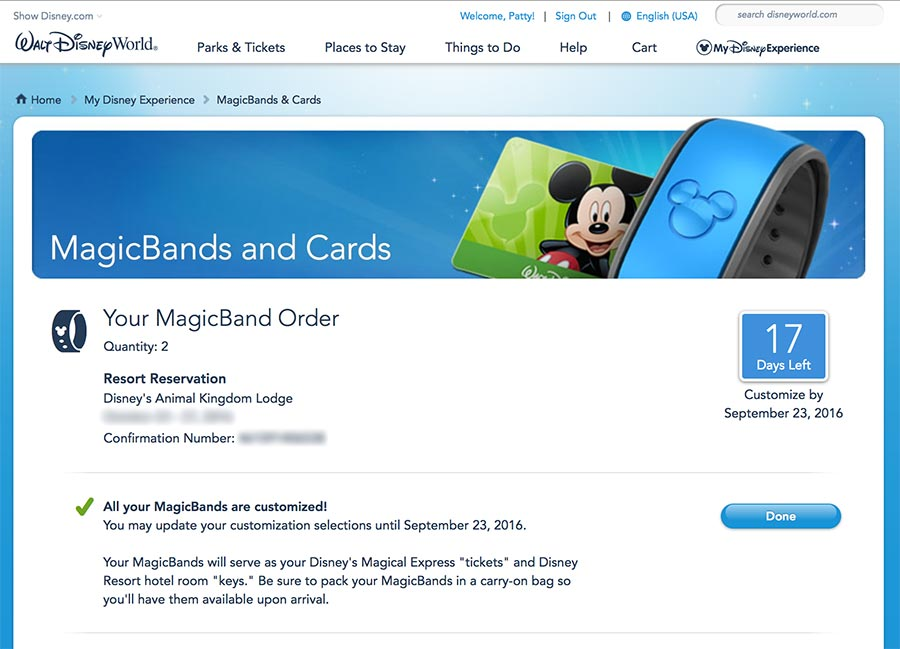You can order your very own MagicBand online if you have a Walt Disney World Resort Stay or Annual Pass.
