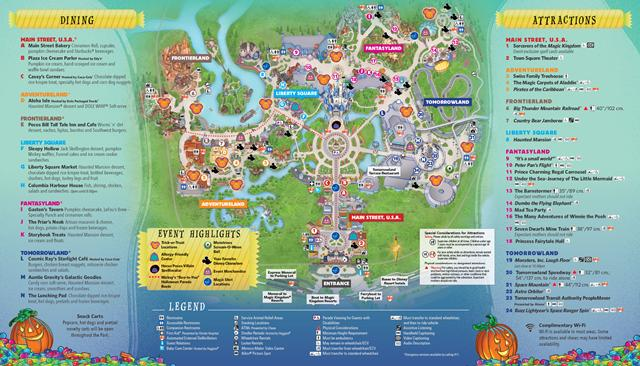 2017 Mickey's Not So Scary Halloween Party Map