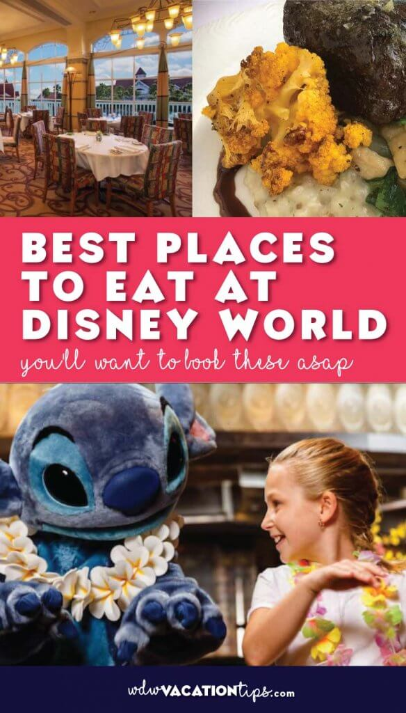 It can be so overwhelming trying to figure out where to eat when on your Disney World vacation. This is the list of the TOP places to eat at Disney that you want to book ASAP