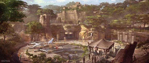 A look above of what Star Wars land will look like when it opens in 2019.