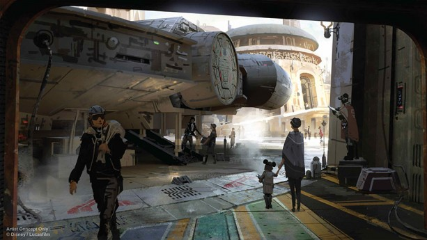 Guests will be able to step aboard The Millennium Falcon and actually pilot the fastest ship in the galaxy, steering the vessel through space, firing the laser cannons, in complete control of the experience.
