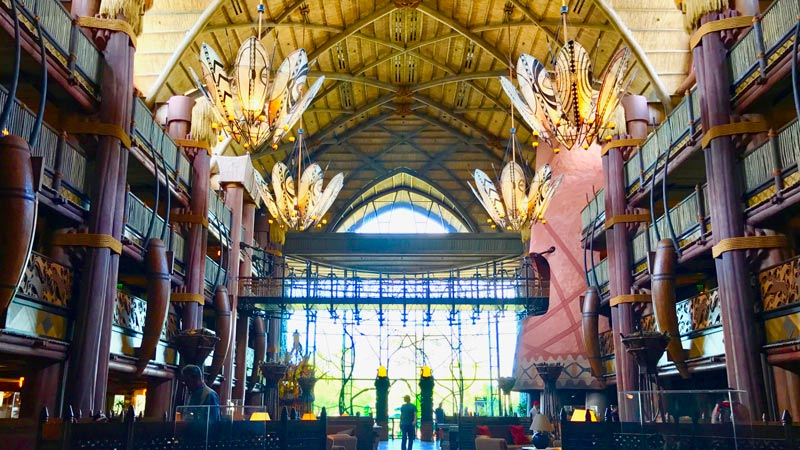 Lobby at the Animal Kingdom Lodge