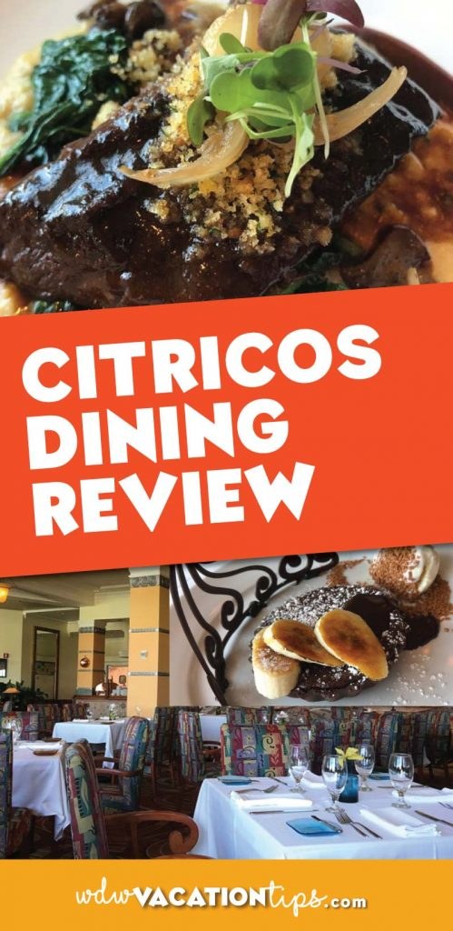Citricos dining review. You can find this spot tucked away inside the Grand Floridan at Disney World.