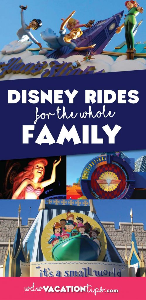 These rides are perfect to bring the entire family on, even the young ones! Walt Disney World rides with no restrictions.