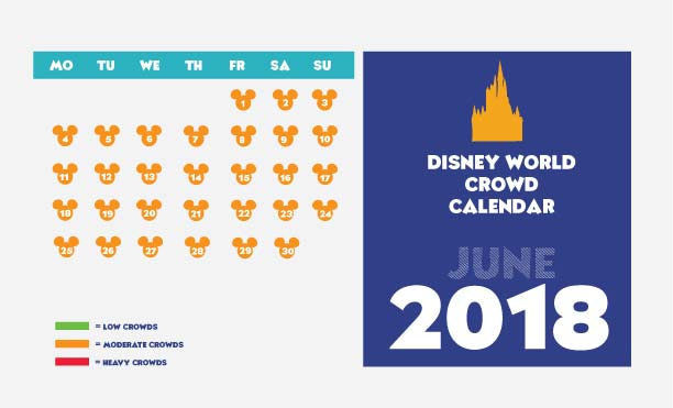 June Disney World Crowd Calendar