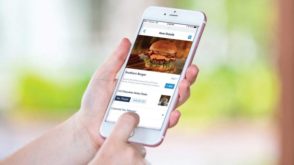 Mobile Food Ordering at Disney World.