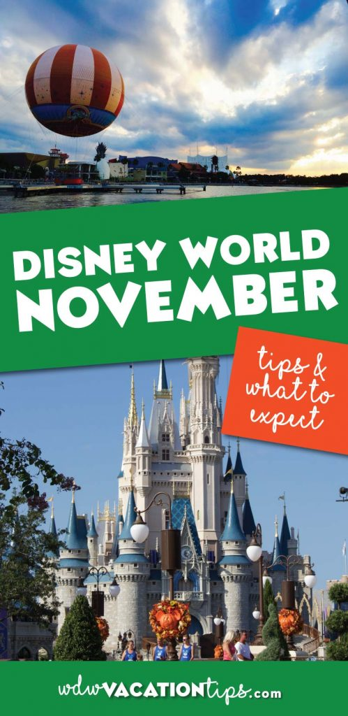 What to expect if you are planning a trip to Disney World in November. The heart of holiday season it's a great time of the year to visit Walt Disney World on vacation.