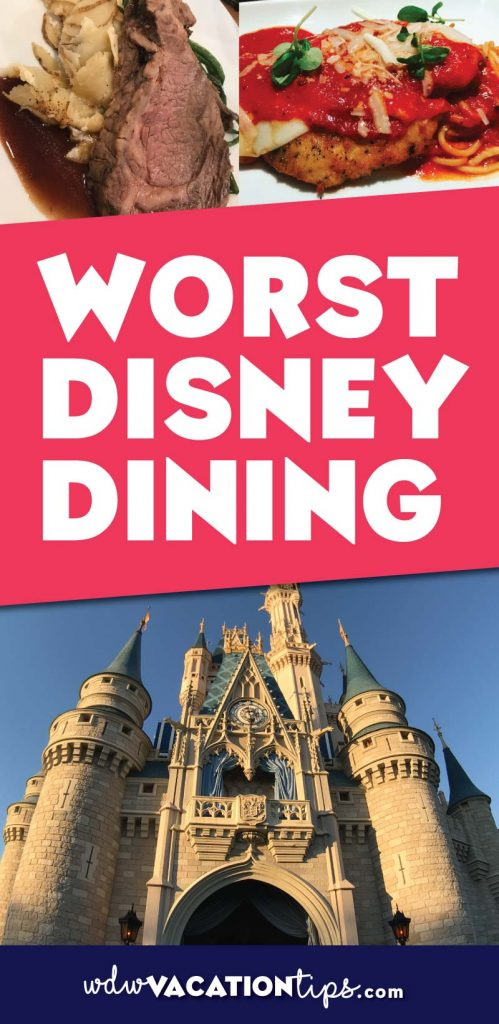 Worst places to eat at Disney World. Some dining options just aren't as good as others at Disney World.