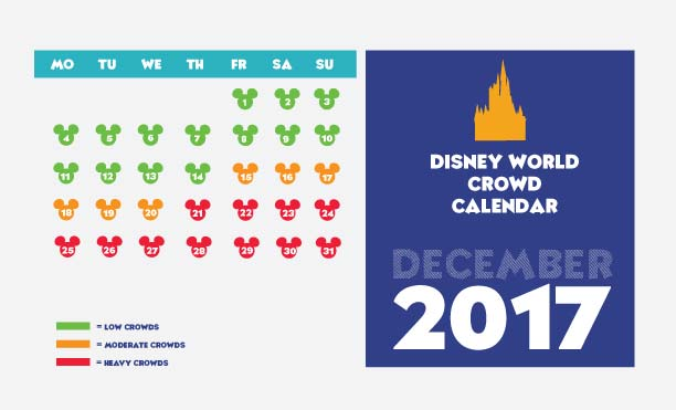 disney world in December crowd calendar