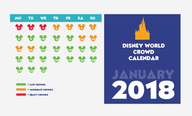 January 2018 Disney Crowd Calendar