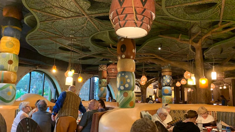 Seating inside of Sanaa Disney Animal Kingdom