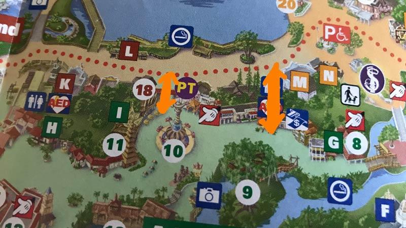 Adventureland to Frontierland paths
