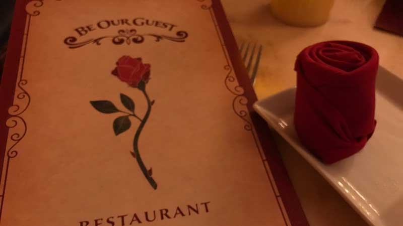 Menu for Be Our Guest
