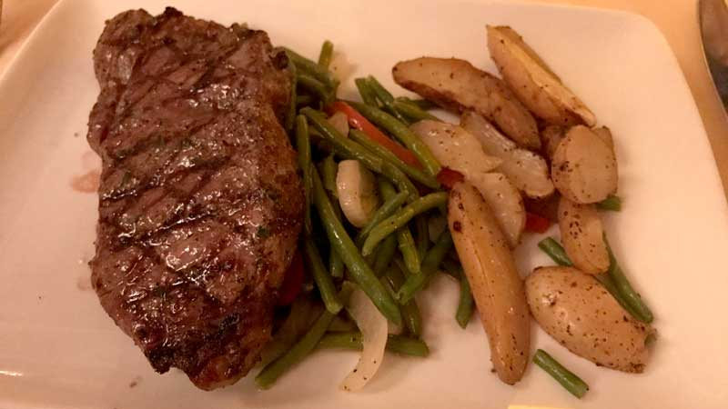 Strip Steak from Be Our Guest